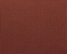 "HIP HOP CARROT ORANGE BROWN CHECKER JACQUARD UPHOLSTERY FABRIC BY THE YARD 55""W"