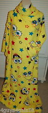 Girls Wrappie SPONGE BOB Yellow ONE SIZE FITS MOST Slip Arm In BACK OPEN Robe