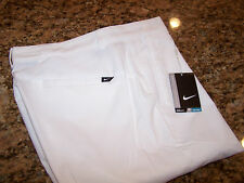 NIKE GOLF - MODERN TECH WOVEN GOLF PANTS  - 36 X 32 - WHITE -TAGS - STYLE 725682