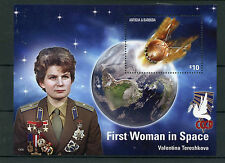 Antigua y Barbuda 2015 estampillada sin montar o nunca montada primera mujer espacio 1v S/S Valentina Tereshkova sellos