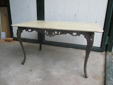 Tavolo tavolino basso da salotto ottone e piano in marmo - epoca metà '900