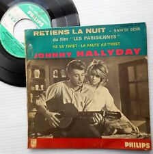 JOHNNY HALLYDAY 4 song ep France PS 45 LES PARISIENNES soundtrack cuts   m654