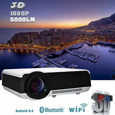 5000Lumens Android HD 1080P LED LCD TV Home Theater Projectors 3D Wifi HDMI RJ45
