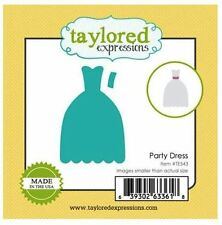 Taylored Expressions Little Bits Die(s) Set ~ PARTY DRESS - Formal Night  ~TE543