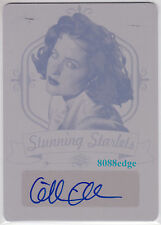 2016 POP CENTURY STARLETS PRINTING PLATE AUTO:GILLIAN ANDERSON #1/1 OF AUTOGRAPH