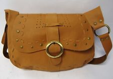 NEXT TOOLED BROWN LEATHER SATCHEL BOHO SHOULDER BAG RETRO
