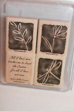 Stampin' Up All I Have Seen Stamp Set of 4 Rubber Mounted Wood Nature Stamps NEW