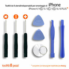 KIT 8 ATTREZZI PER SMONTAGGIO DISPLAY APPLE IPHONE, SAMSUNG, LG