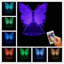 Beautiful Transmutation ! 3D USB Lamp Butterfly Color Changing LED Night Light