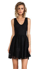 NWT Joie Medium Black Caviar Phelia Fit & Flare Flower Lace Cocktail Party Dress