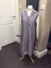Burnlea  Nurses Carers Work Uniform Dresses in Grey. Long Sleeves. Size 12