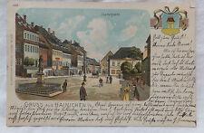 AK  Gruss aus Hainichen in Sachsen Litho gel. 1902