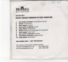 (FB892) Soho House Presentation Sampler, 10 tracks various artists - 2001 DJ CD