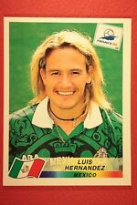 PANINI WC WM FRANCE 98 1998 N. 367 MEXICO HERNANDEZ WITH BLUE BACK MINT!!