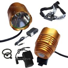 Gold Bulb XM-L XML T6 SSC LED Bike Head Light Lamp Torch P7 + 4x18650 + CH B0430