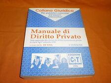 manuale di diritto privato ,g. de vita,edizioni cxt,1996