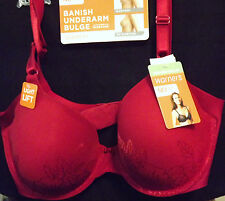 WARNER'S HOLIDAY RED NO SIDE EFFECTS UNDERWIRE BRA WITH LIFT SIZE 36C NEW TAGS