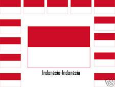 Assortiment lot de10 autocollants Vinyle sticker drapeau Indonésie-Indonésia