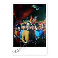 Star Trek Cast - Nichelle Nichols, William Shatner, Leonard Nimoy ++ Autogramm 