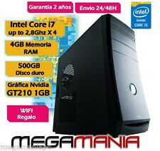 PC TORRE ORDENADOR INTEL CORE i7 up to 2,8Ghz x 4 cores NVIDIA GeForce 210GT 1GB