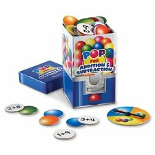 Learning Resources POP for Addition and Subtraction Card Game , New, Free Shippi