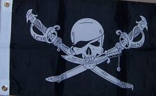 "12x18 12""x18"" Jolly Roger Pirate Brethren Boat Decorative Flag"