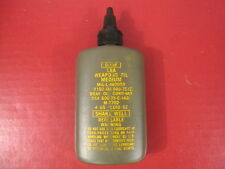 Vietnam Era US Army/USMC LSA Weapons Oil - 4 Ounce Bottle - Contract Dated 1975