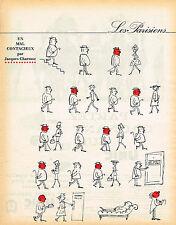 PUBLICITE ADVERTISING 035  1962  DESSIN JACQUES CHARMOZ   LES PARISIENS COONTAGI