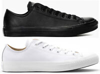 CONVERSE CT ALL STAR OX LEATHER - WHITE/BLACK - BRAND NEW - 100% AUTHENTIC