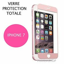 iPhone 7 VERRE TREMPE ROSE Film de protection Intégral Total écran 4.7