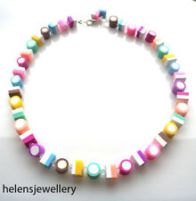 HANDMADE DOLLY MIXTURE NECKLACE GENUINE SWAROVSKI IN BEAUTIFUL BOX + FREE P&P