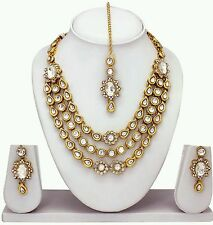 South IndianTraditional Jewellery gold kundan stone design necklace set &earings