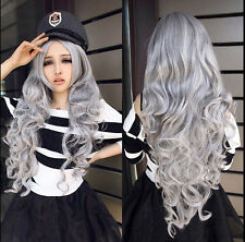 Lady Cospaly Anime Women Hallow Hiar Wig LOLITA Natural Costume Long Wave Curly