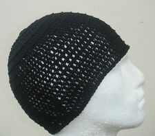100% Cotton Black Beanie Hat Ski,Surf,Skater Rasta Tam One Size By Irie Heights