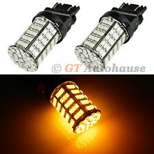 Amber 127-SMD LED Vehicle Front Turn Signal Light Bulbs 3157 4114 4157 4057 #A30