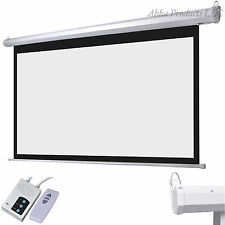 "92"" Motorized Electric Lift Home Theater Classroom Projector Screen 16:9 Ratio"
