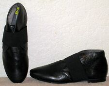 ANNA FIDANZA VERA PELLE ITALY Leather Top Strap Booties Boots Low Heel SZ 9