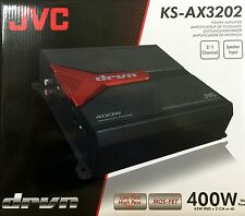 NEW JVC KS-AX3202 150W RMS 2-Channel Class AB DRVN Series Car Power Amplifier