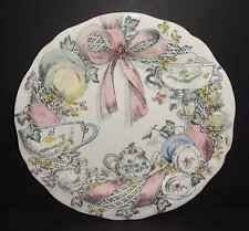 NEW Gien France Jour de Fete Dessert Salad Luncheon Plate Tea Party Pink Ribbon