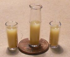 1:12 Scale Jug Of Orange Squash & 2 Glasses Doll House Miniature Drink Accessory