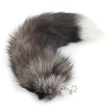 Chic Women's Fox Fur Tail Tassel Bag Tag Handbag Pendant Key Chain Keyring Gift