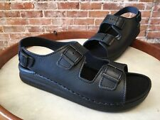 Birkenstock Tatami Black Leather Nebraska Sandal Eu 46 Men's 13 Reg NEW