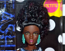 2016 BARBIE FASHIONISTAS 25 BLUE BROCADE BARBIE DOLL AA AFRICAN BLACK PETITE