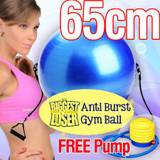 The Biggest Loser Gym Ball, Fitness Ball, Yoga Ball 65cm with Resistance Straps
