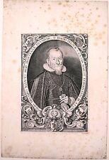 Eau forte et burin XVIIIe, Portrait de David Velser