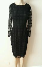 NEXT TAILORED BLACK SQUARE LACE DRESS SIZE 12 NEW WITH TAGS