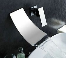 Widespread 2 PCS Wall Mounted Waterfall Bath Faucet Spout Mixer Tap, Chorem