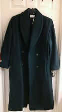 Maggie Lawrence,  NWT $149 trench coat hunter green, wool blend women's size 10