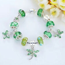 Xmas Fashion Charm Bracelet For Butterfly Bead Pendant Fit 925 Women Jewelry