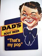 "1950 ""Dad's Root Beer"" Advertising Cardboard Stand Up Sign *"